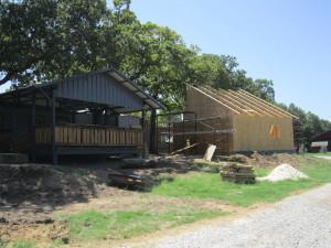 hen house construction at hollow hill event center