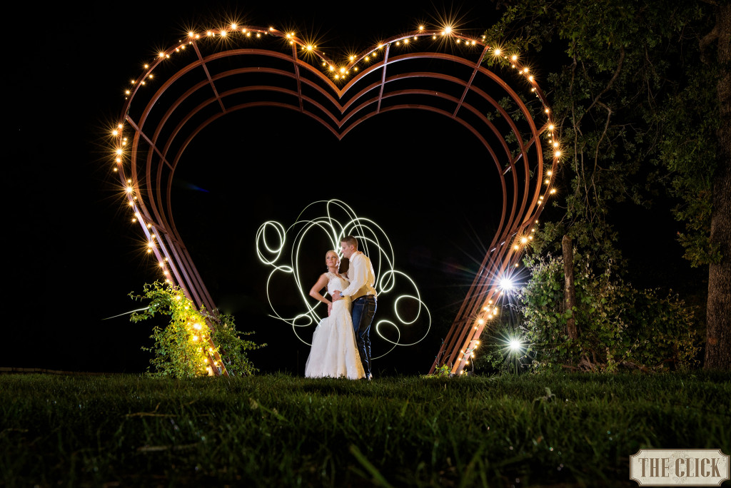 heart arch at night