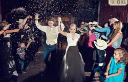 exiting wedding venue