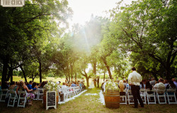 outdoor wedding ceremony in Fort Worth, TX