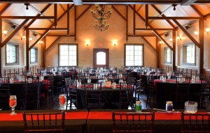 Hollow Hill Event Center's indoor reception area can be set up multiple ways for your celebration