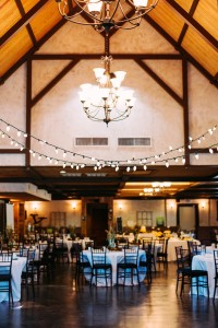 Indoor reception set up in Hollow Hill's great room