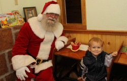 Meeting Santa Claus at Hollow Hill Event Center