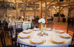indoor rustic wedding ceremony