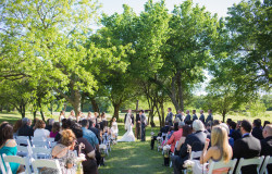 weatherford TX outdoor wedding ceremony