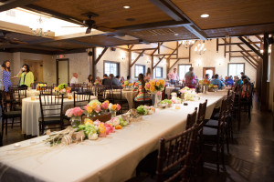 reception dining at Hollow Hill Event Center
