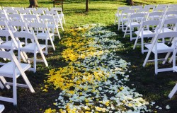 dfw outdoor wedding ceremony