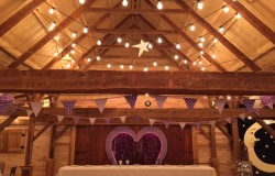 wedding reception in rustic barn Dallas, TX