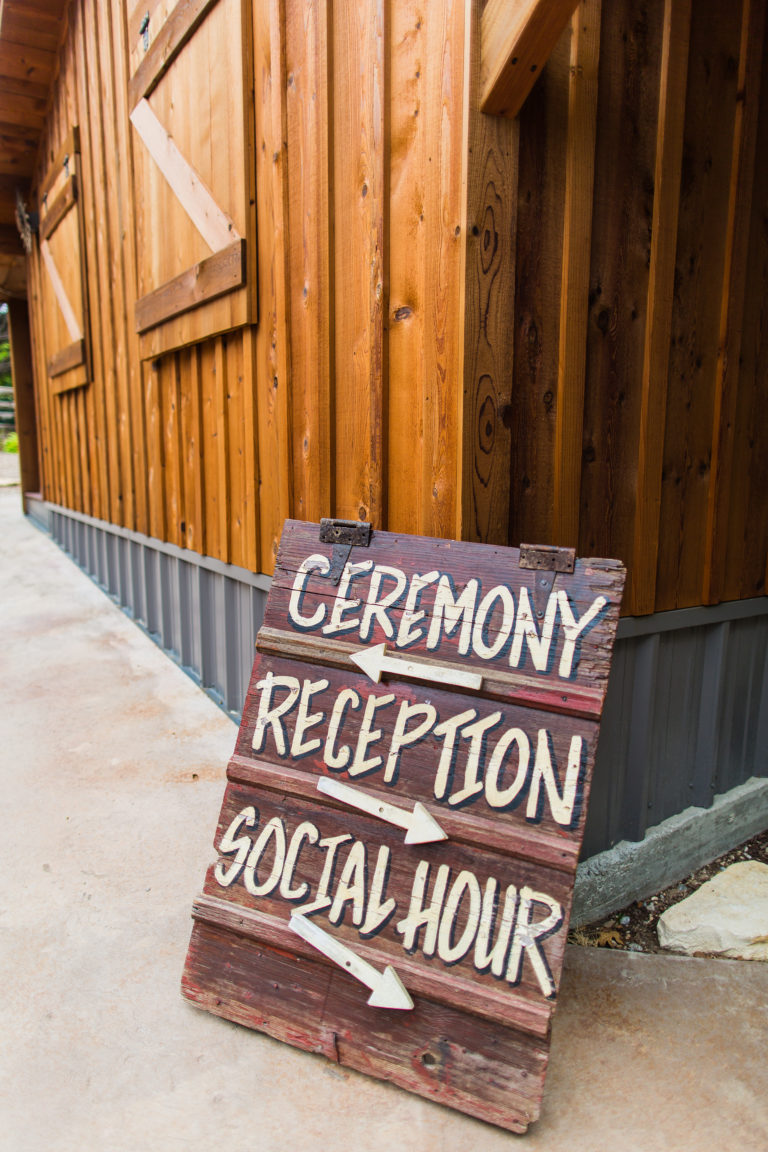 ceremony, reception, social hour