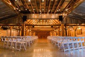 Indoor Rustic Barn Ceremony in Weatherford, TX