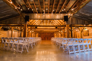 Rustic Indoor Barn Ceremony in Weatherford, TX