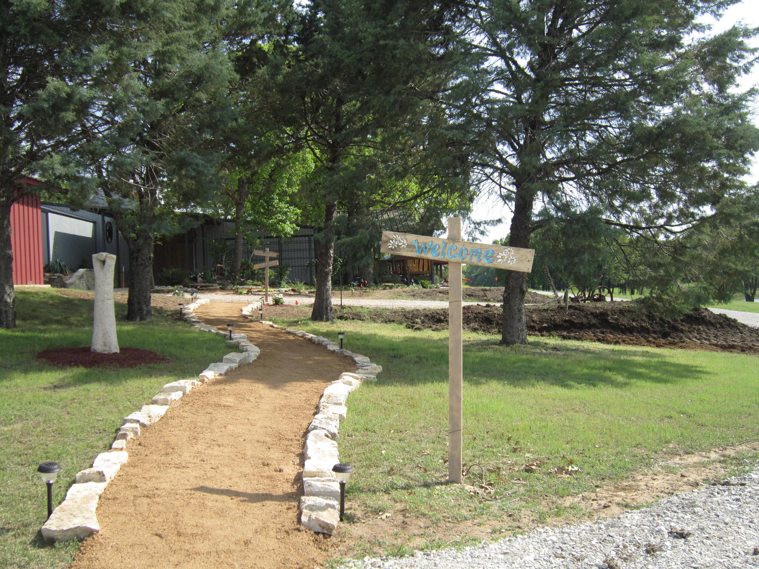 outdoor wedding venue entrance