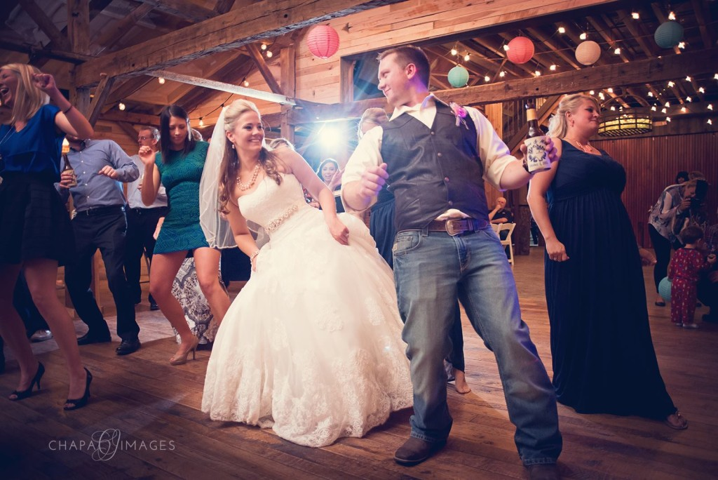 Hollow Hill's barn is perfect for dancing