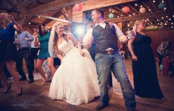 bride & groom dancing at wedding reception fort worth
