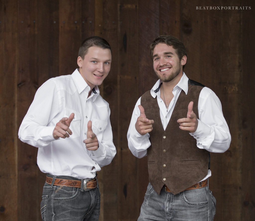 The groomsman and groom having fun