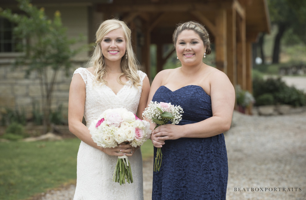 A bride and her bridesmaid at Hollow Hill