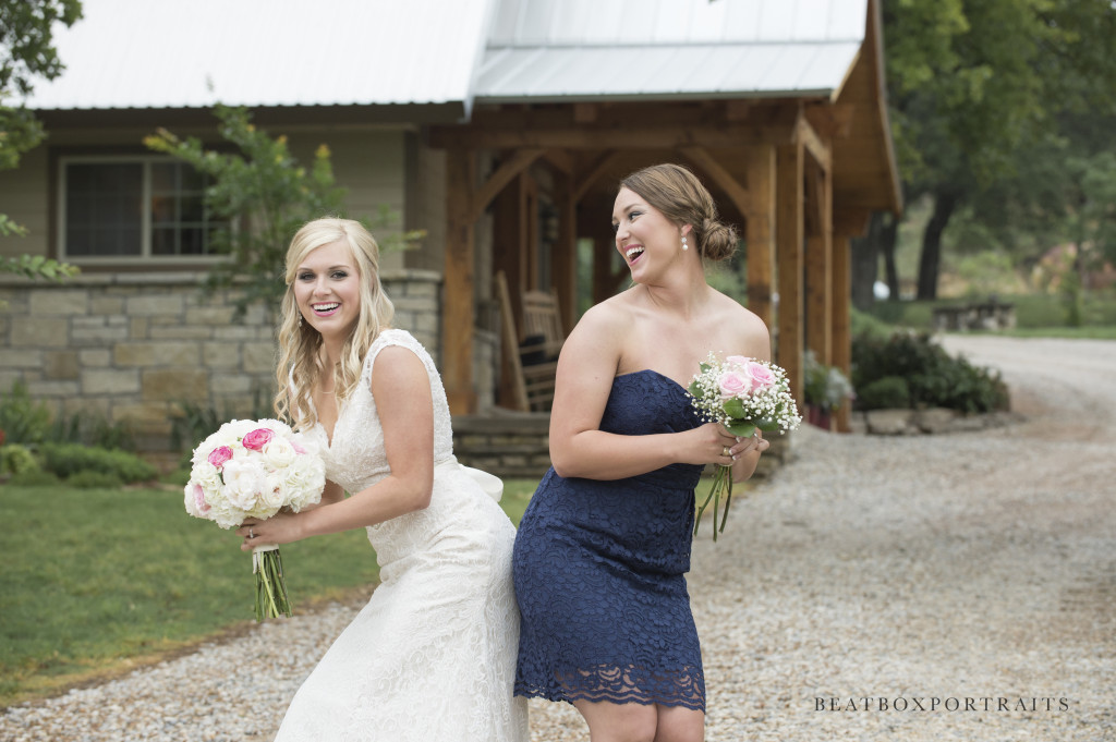 Fun pictures with the bride an bridesmaid