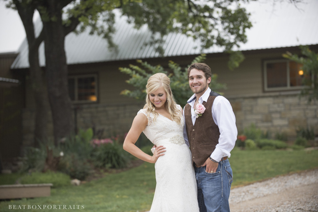 Bride and groom enjoying their bridal photo shoot in the country