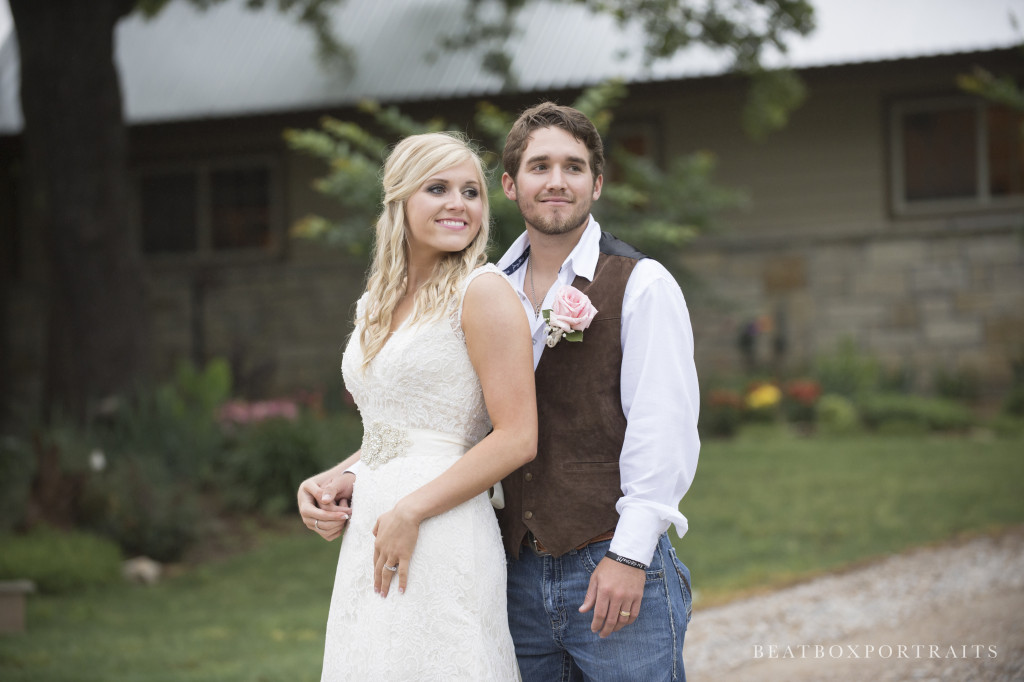 Bridals at an outdoor wedding venue in the country