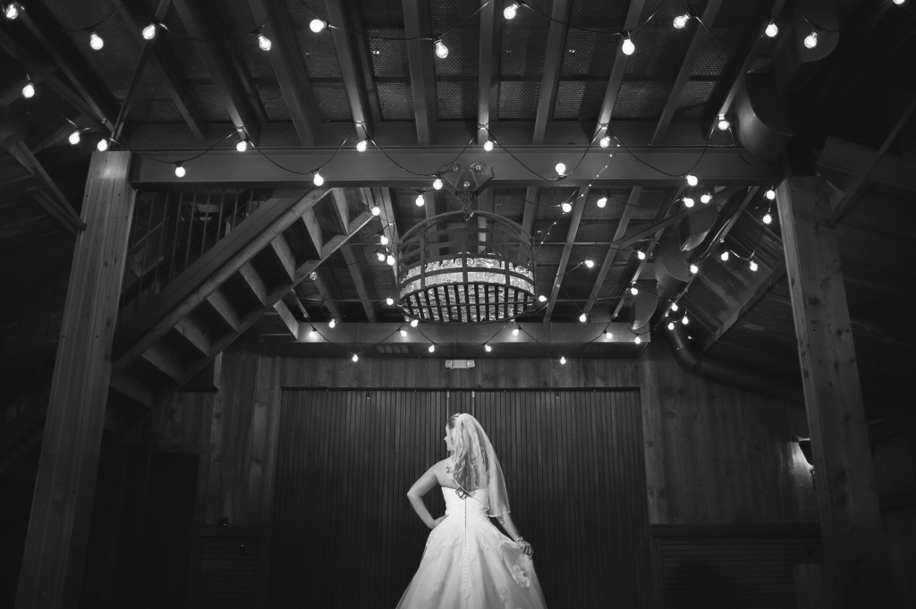 Romantic rustic bridals in Hollow Hill's climate-controlled barn