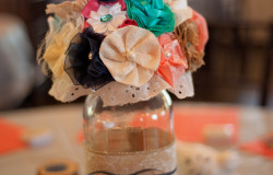 country wedding reception table decor