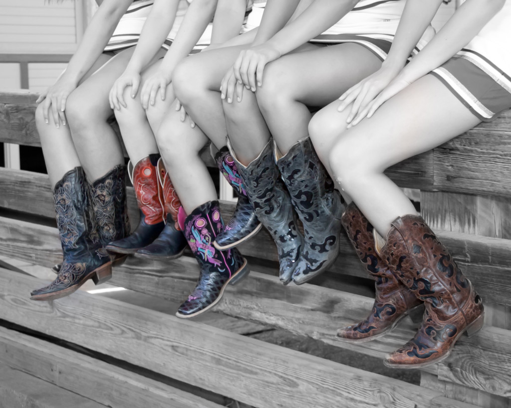 Artistic cowboy boots photography