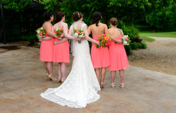 view of the dress for bride and bridesmaids