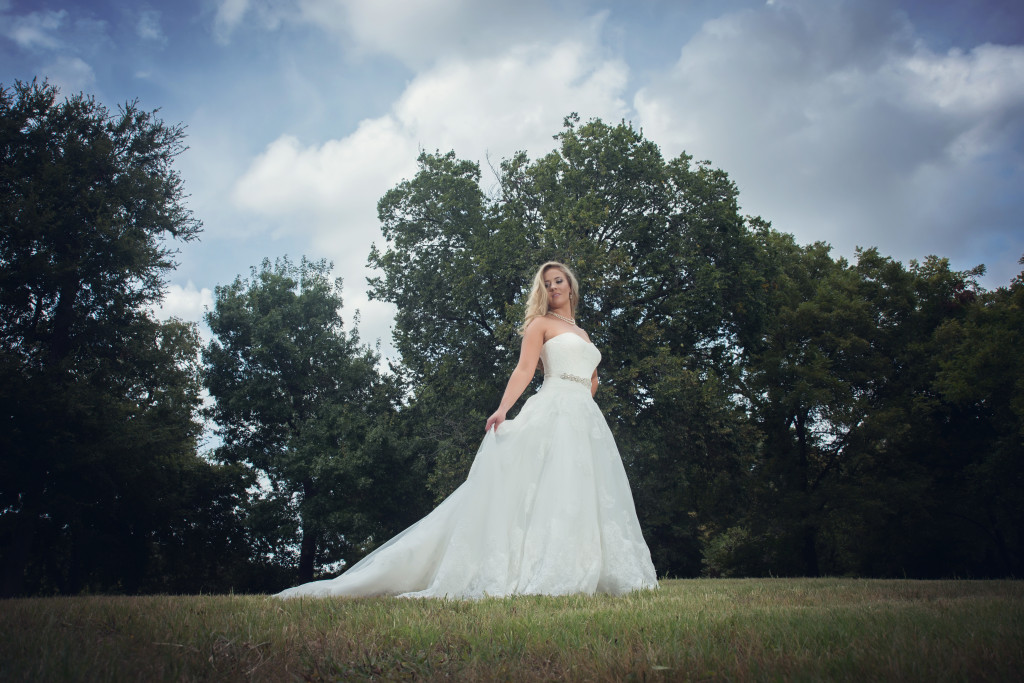 This outdoor wedding venue has plenty of scenic areas for bridals