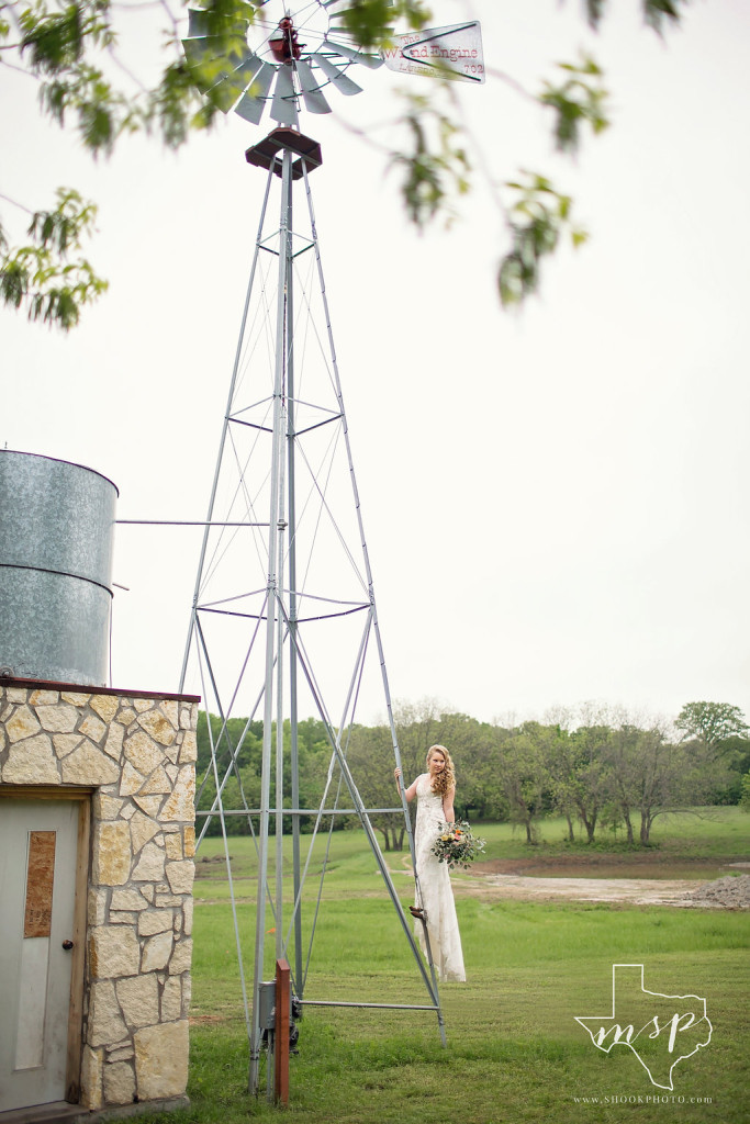 One of two windmills that dot the landscape of this wedding venue in Weatherford