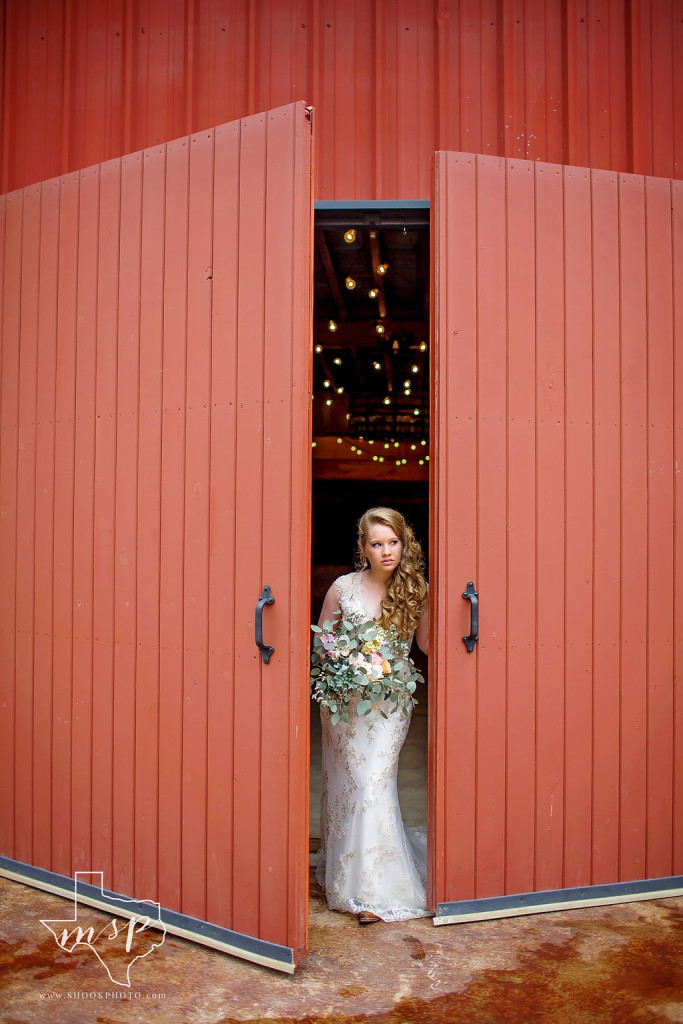 "The double barn doors create that ""wow"" entrance for the bride on her special day"