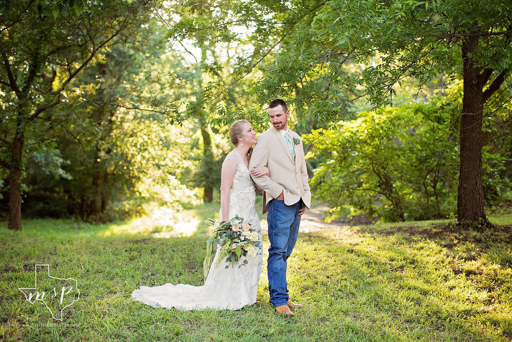 These newlyweds are thrilled with their pick of Hollow Hill for their outdoor ceremony underneath the trees