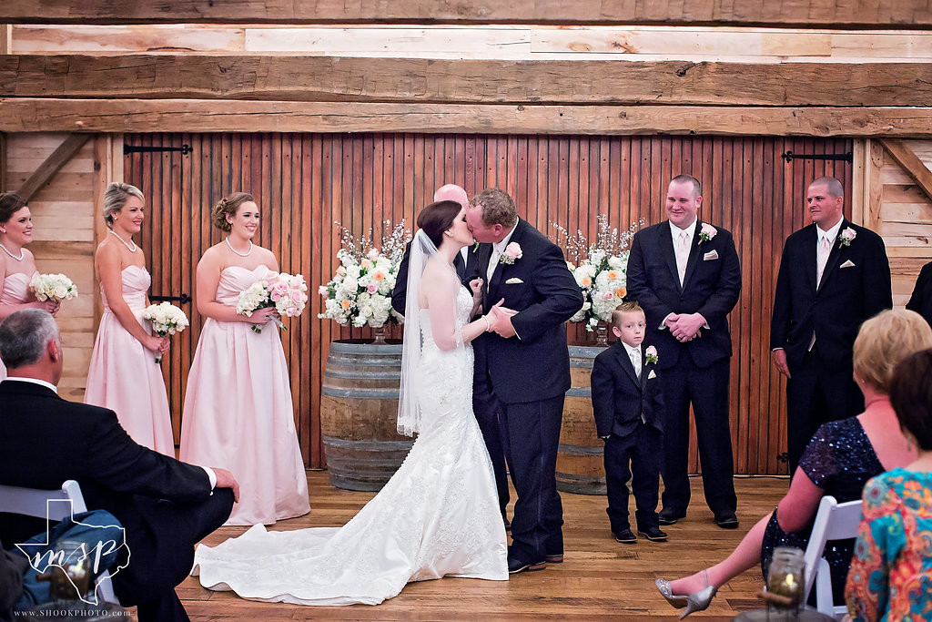 This elegant wedding was in Hollow Hill's climate controlled rustic barn