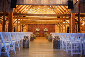 Hollow Hill's rustic barn is ready for your elegant country wedding