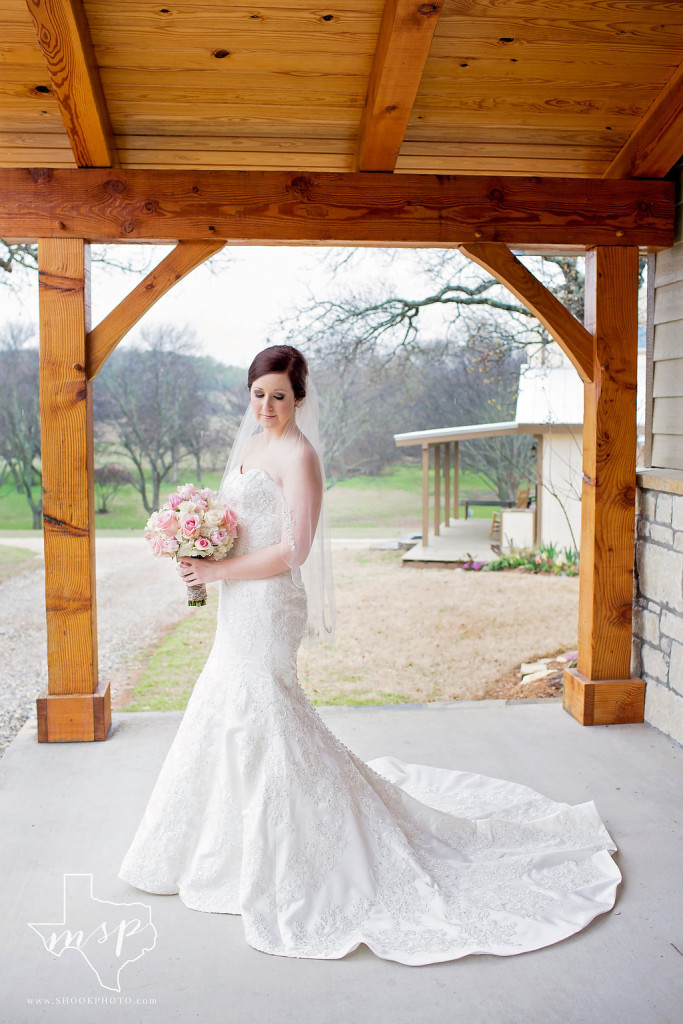 Rustic bridal photo shoot in the country near Fort Worth, TX