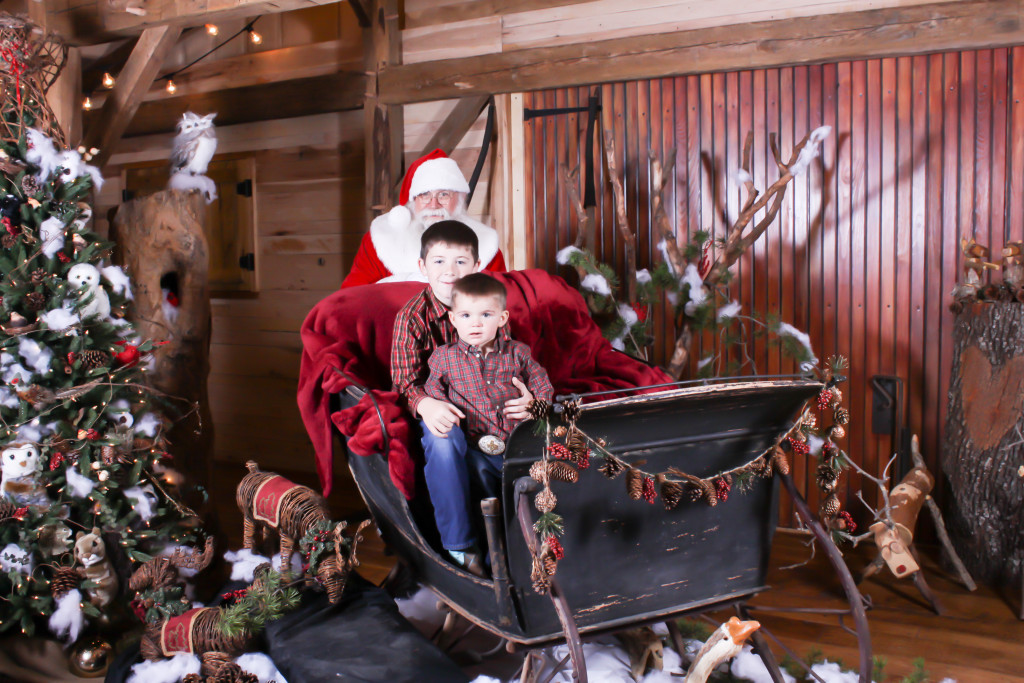 It's a winter wonder land with Santa in Hollow Hill's rustic barn