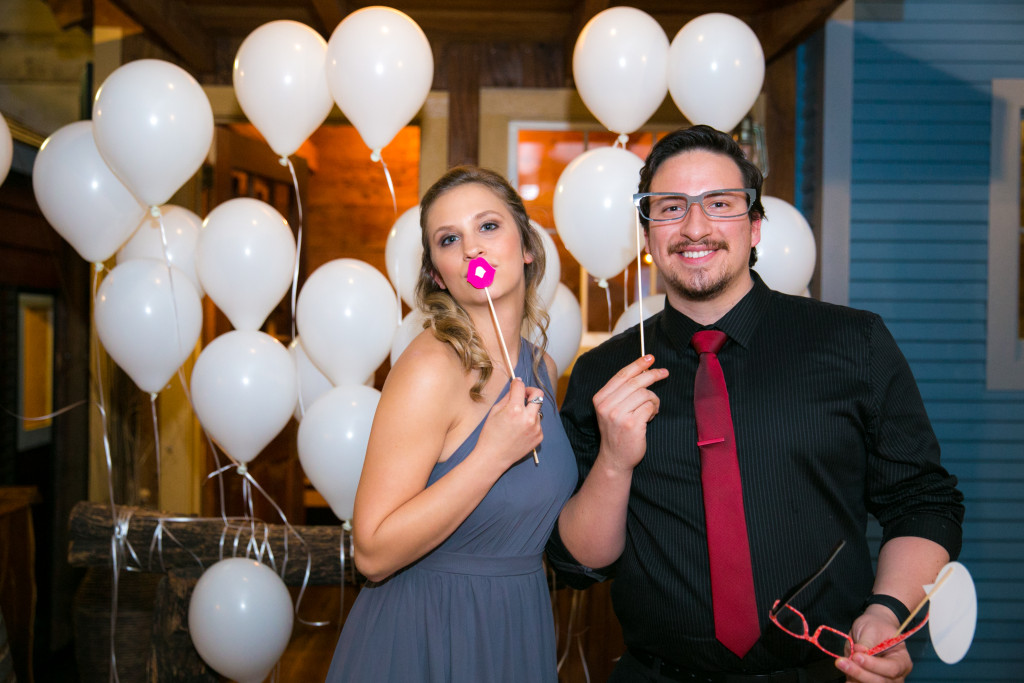 Photo props add whimsy to your wedding pictures