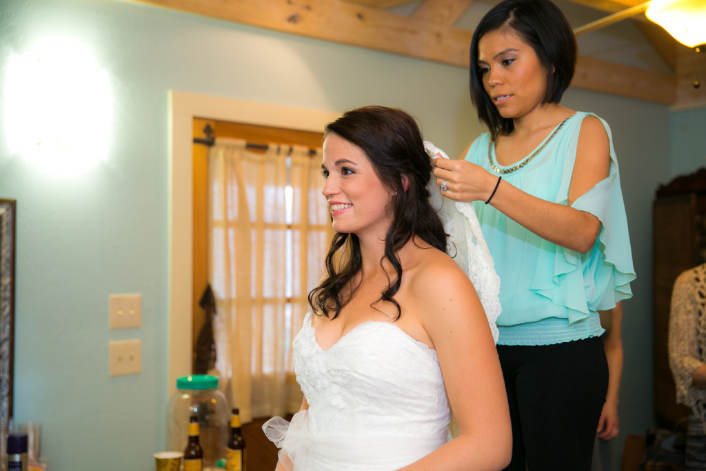 "The bride is almost ready to say ""I do""."
