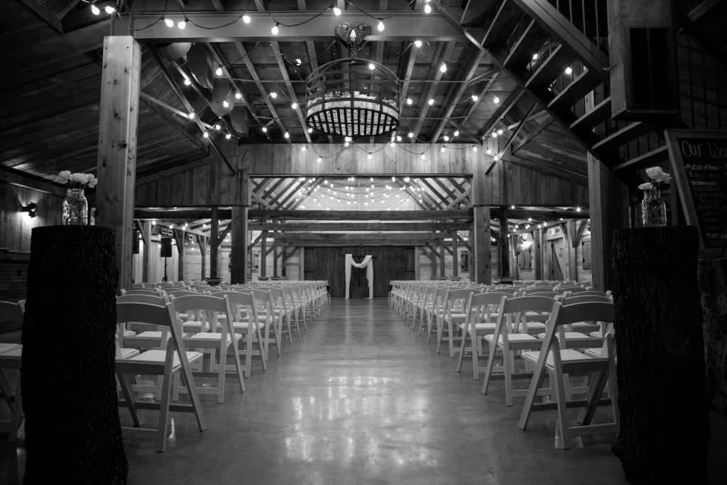 Hollow Hill's rustic yet elegant barn is ready for the bride and groom