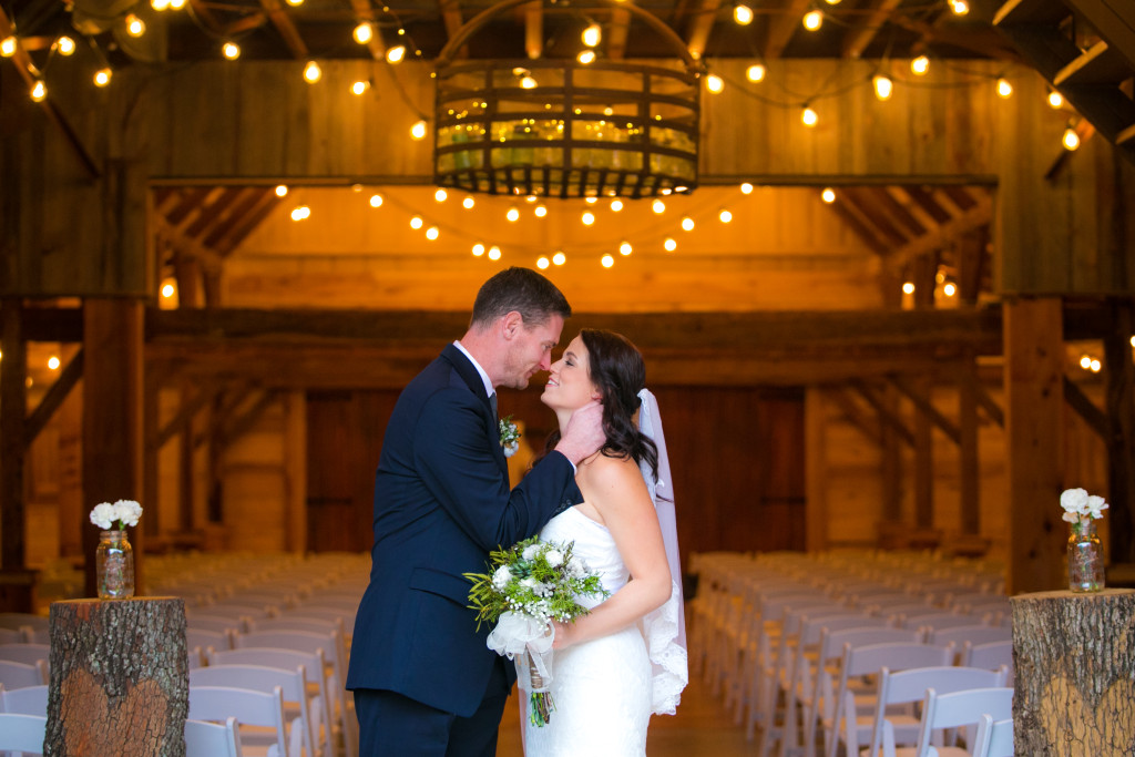 Hollow Hill's rustic barn is a great setting for your elegant yet casual wedding