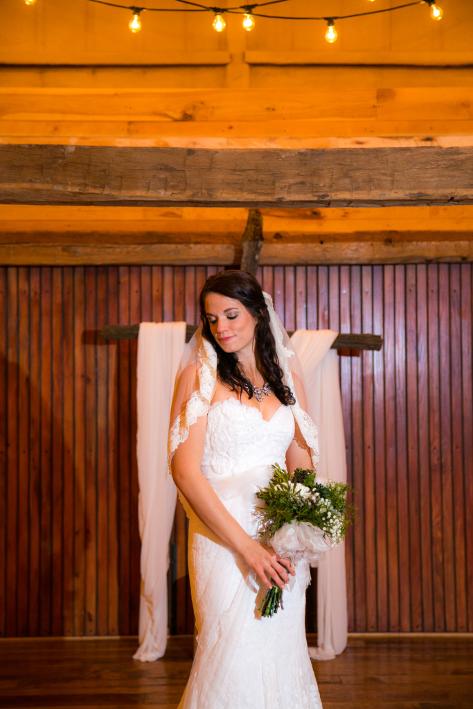 Indoor rustic barn ceremony venue just north of Fort Worth, TX
