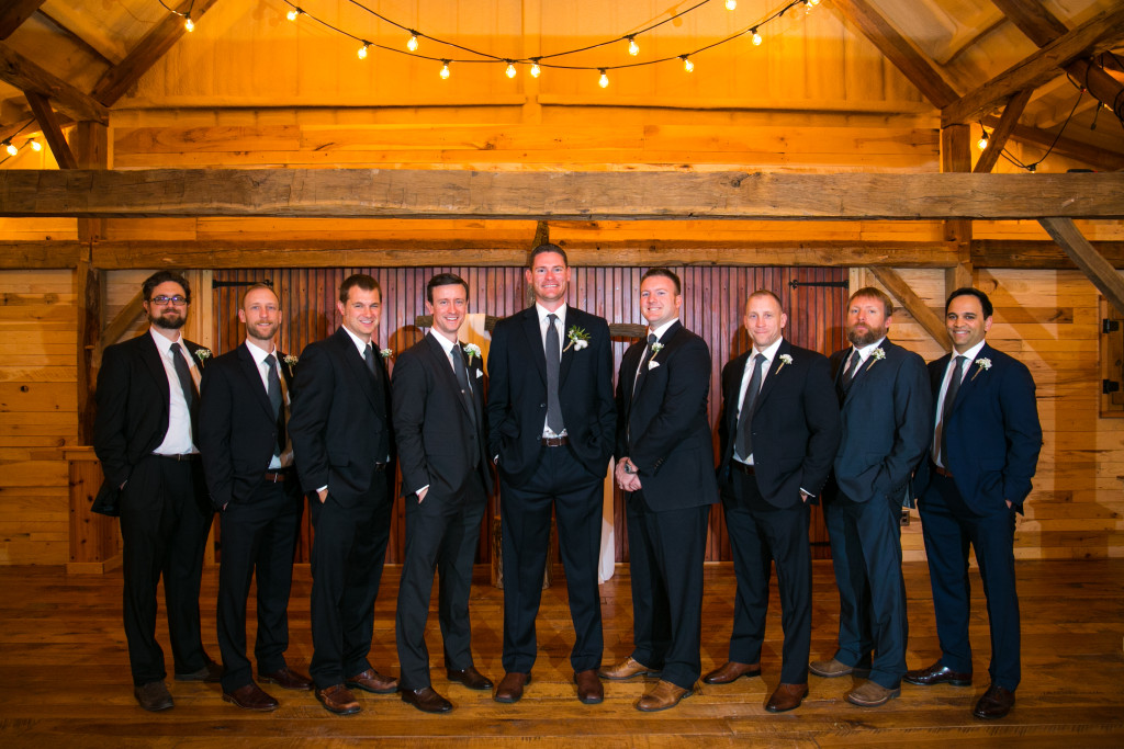 Hollow Hill has the perfect indoor ceremony setting in their rustic yet elegant barn.