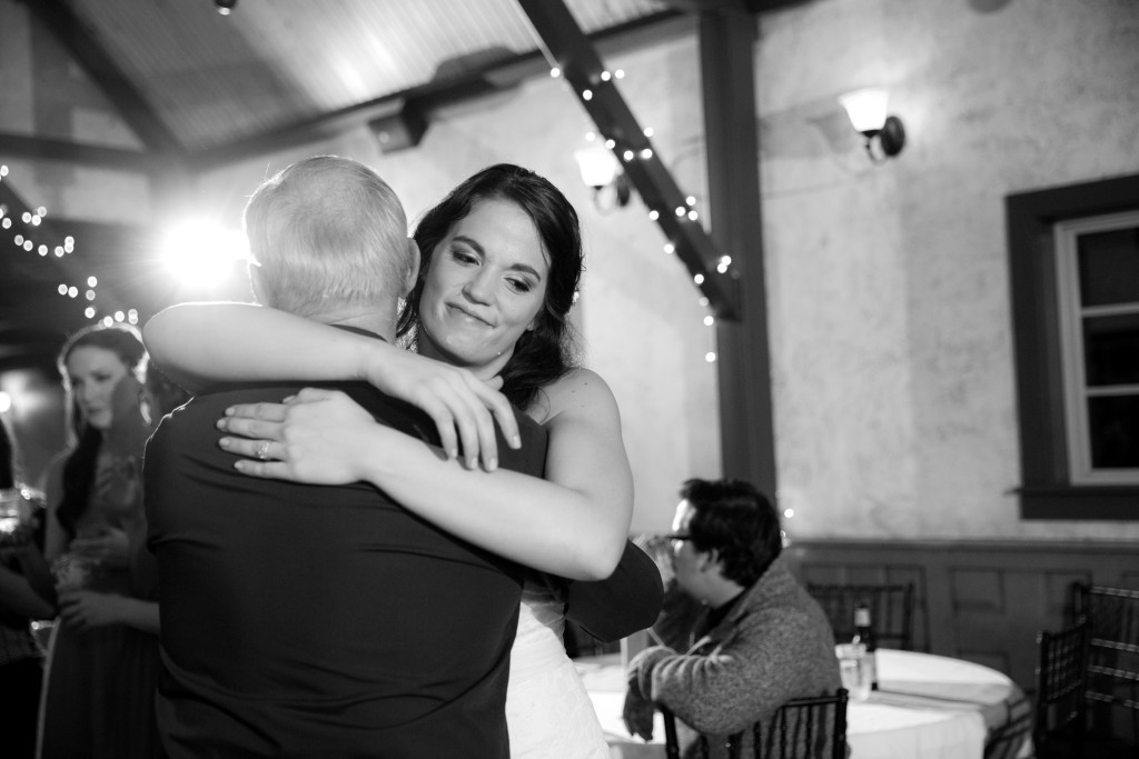Dancing with the bride at Hollow Hill Event Center