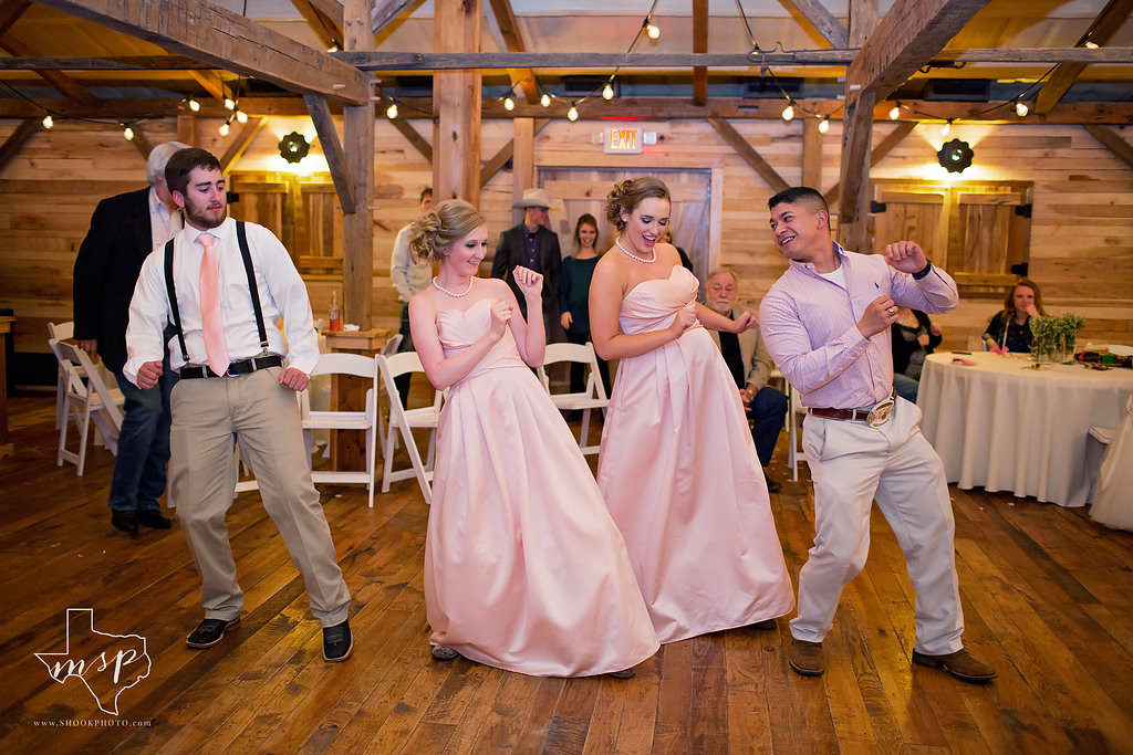 Boogie down in the rustic barn at your reception celebration