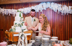 Cutting Wedding Cake at Hollow Hill