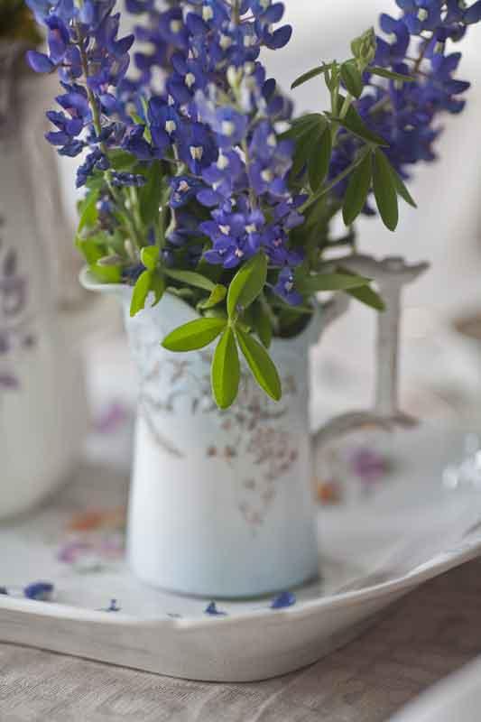 Texas bluebonnet wildflowers on your wedding day httpcedarhillfarmhouse201404spring tablescape bluebonnet flowers mightylinksfo