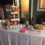A S'mores bar wedding table