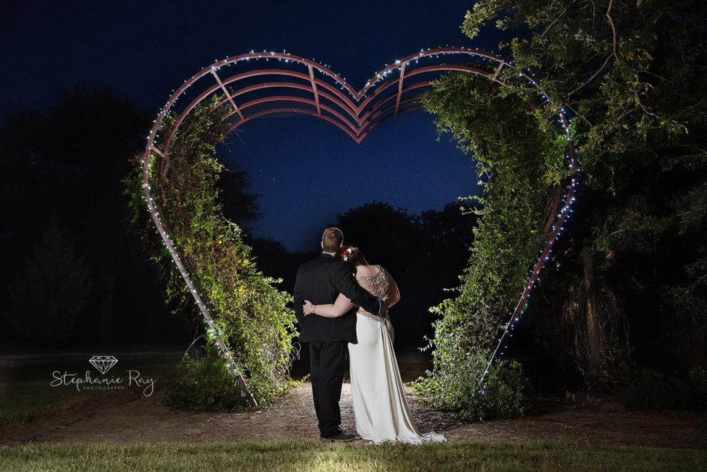outdoor wedding starry night