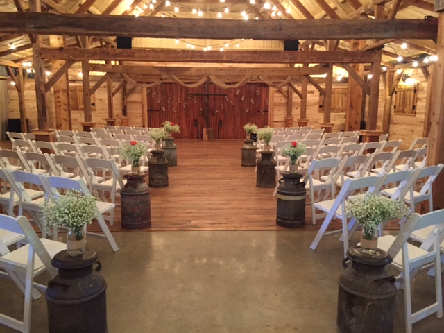 barn wedding ceremony